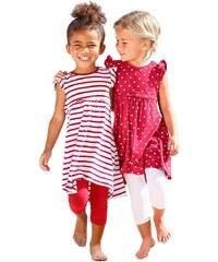 Kidoki Jerseykleid mit Streifen und Punkten (Packung, 2 Stück), für Mädchen