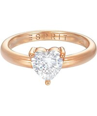 Esprit Ring mit Zirkonia, »Herz, ESPRIT-JW50223 Rose, ESRG92850C«