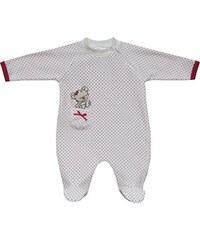 Schnizler Baby - Mädchen Schlafstrampler Nicki Schlafanzug Bär Gepunktet