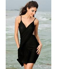Ostatní Zavinovací plážové šaty černé