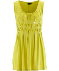 bpc selection Top long avec strass jaune sans manches femme - bonprix