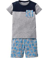 bpc bonprix collection T-shirt bébé + bermuda (Ens. 2 pces.) en coton bio, T. 56/62-104/110 gris enfant - bonprix