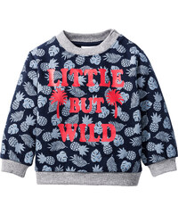 bpc bonprix collection Sweat-shirt bébé en coton bio, T. 68/74-104/110 bleu enfant - bonprix