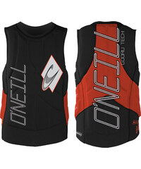 O'Neill Gooru Tech Comp Vest protection blk / neonred