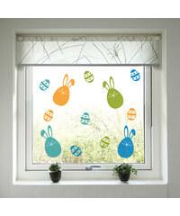 Housedecor Samolepky na sklo Zajíčci a vajíčka