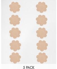 Fashion Forms - Lot de cinq paires de cache-tétons en forme de fleurs - Beige