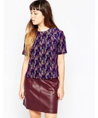House of Holland - T-shirt jacquard teint par sections - Violet