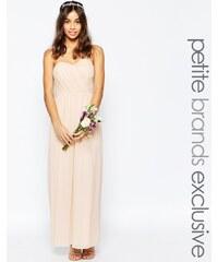 TFNC Petite WEDDING - Robe longue bandeau en mousseline - Rose