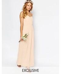 TFNC WEDDING - Robe longue bandeau en mousseline - Rose
