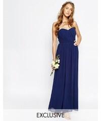 TFNC WEDDING - Robe longue bandeau en mousseline - Bleu marine