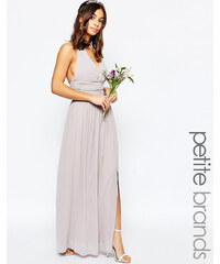 TFNC Petite WEDDING - Robe longue dos nu en mousseline - Violet