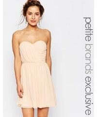 TFNC Petite WEDDING - Robe courte bandeau en mousseline - Rose
