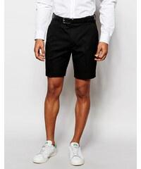 ASOS - Schmal geschnittene Shorts in Schwarz - Schwarz