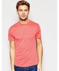 Another Influence - T-shirt à motif aztèque en tissu dévoré - Orange