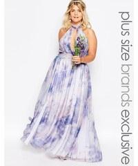 Fame And Partners Plus - River - Robe longue imprimé pastel - Multi