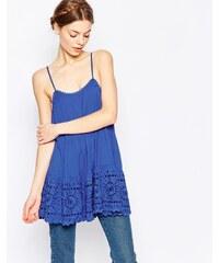 Harlyn - Trägerhemd im Babydoll-Stil - Blau