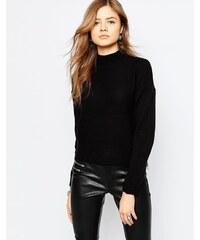 Noisy May - New Punk Size - Pullover mit Reißverschluss - Schwarz