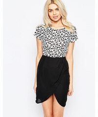 Sugarhill Boutique - Clara - Robe à jupe portefeuille - Noir