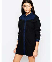 Vero Moda - Robe chemise en jean style western - Bleu