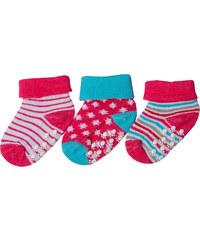 G-mini Dívčí sada ponožek (0-6 měsíců) - 3 páry - růžové, sv. modré a bílé
