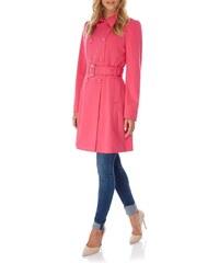LONDON TIMES Růžový elegantní kabát