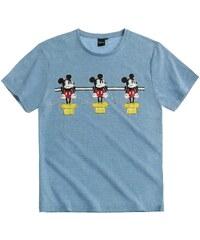 Disney Mickey T-Shirt blau in Größe S für Herren aus 50% Baumwolle 50% Polyester