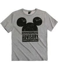 Disney Mickey T-Shirt grau in Größe S für Herren aus 60 % Baumwolle 40 % Polyester