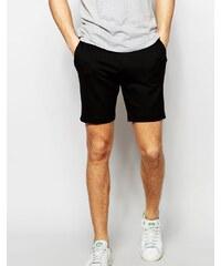 ASOS - Bermuda skinny ajusté en jersey - Noir - Noir