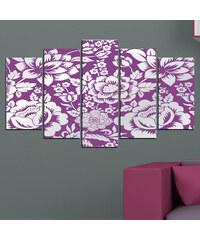 Lesara 5 panneaux muraux motif art floral