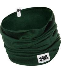 Lamama Komínový bavlněný šál/šátek- tmavě zelený