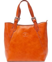 Kožená kabelka Vera Pelle 0145 camel