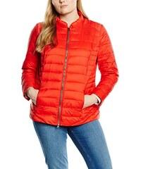 Frapp Damen Jacke Langarm Steppjacke mit Kragen und Zipper Uni