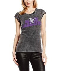 Black Sabbath Damen T-Shirt Logo & Daemon Acid Wash