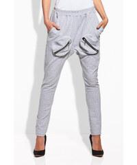 Lemoniade Světle šedé teplákové kalhoty L128