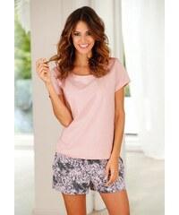 Shorty mit gemusterter Shorts & softem Basic T-Shirt Buffalo rosa 32/34,36/38,40/42,44/46
