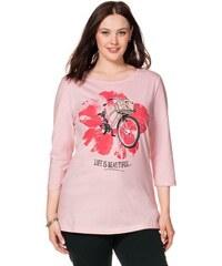 SHEEGO CASUAL Damen Casual 3/4-Arm-Shirt rosa 40/42,44/46,48/50,52/54,56/58
