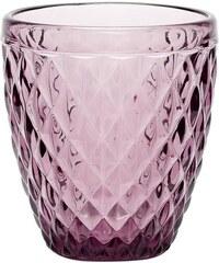 Hübsch Skleněný svícen Pattern Purple