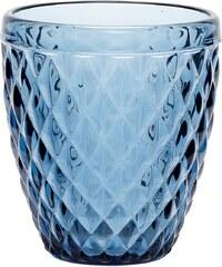 Hübsch Skleněný svícen Pattern Blue