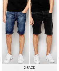 Bellfield - Lot de shorts en jean - Bleu