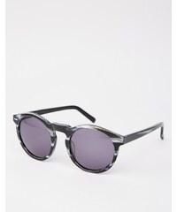 Dark Future - Handmade - Schwarze, runde Acetat-Sonnenbrille - Schwarz