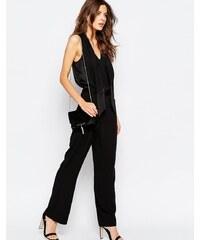 Vila - Pantalon coupe droite - Noir
