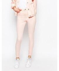 Waven - Anika - Jean skinny taille haute - Rose