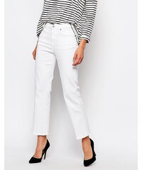 7 For All Mankind - Jean bootcut court - Blanc