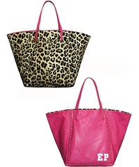 Oboustranní taška MIA BAG - tygrová/růžová, Barva ružová