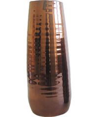StarDeco Arizona - keramická váza bronzová