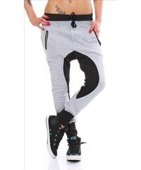 Baggy dámské kalhoty - šedé