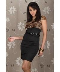 Dámské šaty leopard ESTELLE FASHION