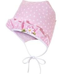 Broel Dívčí puntíkovaná čepice - růžová