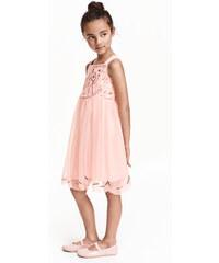 H&M Tylové šaty s flitry