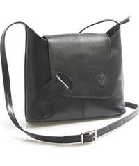 8c4ed8ac47 Čierna kožená kabelka do ruky ItalY Stefanie čierna - Glami.sk